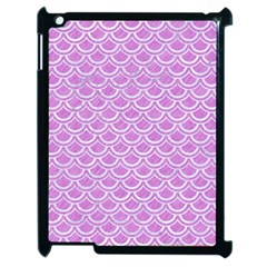 Scales2 White Marble & Purple Colored Pencil Apple Ipad 2 Case (black) by trendistuff