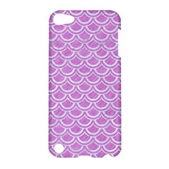 Scales2 White Marble & Purple Colored Pencil Apple Ipod Touch 5 Hardshell Case by trendistuff