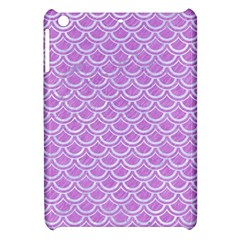 Scales2 White Marble & Purple Colored Pencil Apple Ipad Mini Hardshell Case by trendistuff
