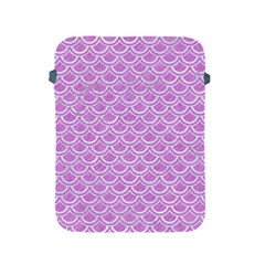 Scales2 White Marble & Purple Colored Pencil Apple Ipad 2/3/4 Protective Soft Cases by trendistuff