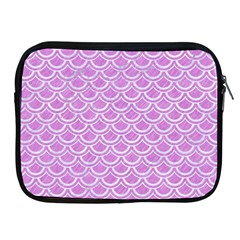 Scales2 White Marble & Purple Colored Pencil Apple Ipad 2/3/4 Zipper Cases by trendistuff