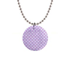 Scales1 White Marble & Purple Colored Pencil (r) Button Necklaces by trendistuff