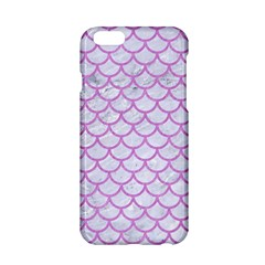 Scales1 White Marble & Purple Colored Pencil (r) Apple Iphone 6/6s Hardshell Case by trendistuff