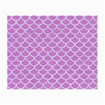 SCALES1 WHITE MARBLE & PURPLE COLORED PENCIL Small Glasses Cloth (2-Side) Front