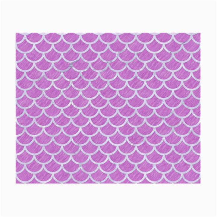 SCALES1 WHITE MARBLE & PURPLE COLORED PENCIL Small Glasses Cloth (2-Side)