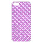SCALES1 WHITE MARBLE & PURPLE COLORED PENCIL Apple iPhone 5 Seamless Case (White) Front