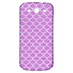 Scales1 White Marble & Purple Colored Pencil Samsung Galaxy S3 S Iii Classic Hardshell Back Case by trendistuff