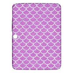Scales1 White Marble & Purple Colored Pencil Samsung Galaxy Tab 3 (10 1 ) P5200 Hardshell Case  by trendistuff