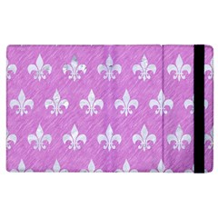 Royal1 White Marble & Purple Colored Pencil (r) Apple Ipad 2 Flip Case by trendistuff