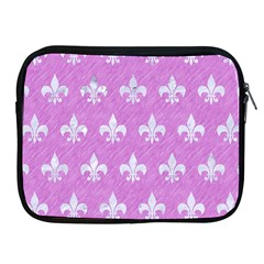 Royal1 White Marble & Purple Colored Pencil (r) Apple Ipad 2/3/4 Zipper Cases by trendistuff