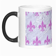 Royal1 White Marble & Purple Colored Pencil Morph Mugs by trendistuff