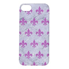 Royal1 White Marble & Purple Colored Pencil Apple Iphone 5s/ Se Hardshell Case by trendistuff