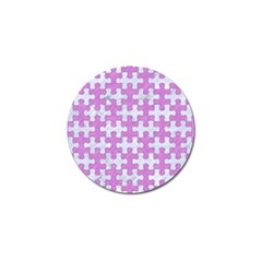 Puzzle1 White Marble & Purple Colored Pencil Golf Ball Marker (10 Pack) by trendistuff