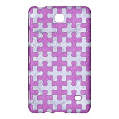 Puzzle1 White Marble & Purple Colored Pencil Samsung Galaxy Tab 4 (7 ) Hardshell Case  by trendistuff