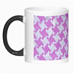 Houndstooth2 White Marble & Purple Colored Pencil Morph Mugs by trendistuff
