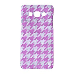 Houndstooth1 White Marble & Purple Colored Pencil Samsung Galaxy A5 Hardshell Case  by trendistuff