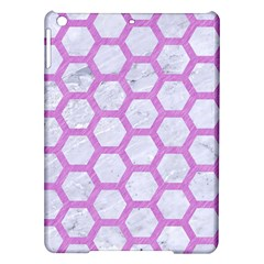 Hexagon2 White Marble & Purple Colored Pencil (r) Ipad Air Hardshell Cases by trendistuff