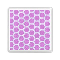 Hexagon2 White Marble & Purple Colored Pencil Memory Card Reader (square)  by trendistuff