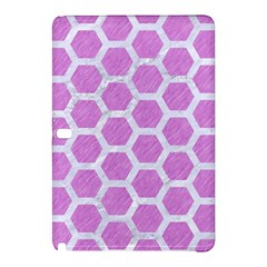 Hexagon2 White Marble & Purple Colored Pencil Samsung Galaxy Tab Pro 10 1 Hardshell Case by trendistuff