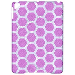 Hexagon2 White Marble & Purple Colored Pencil Apple Ipad Pro 9 7   Hardshell Case by trendistuff