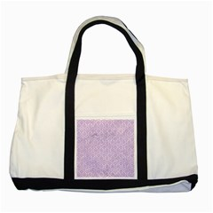 Hexagon1 White Marble & Purple Colored Pencil (r) Two Tone Tote Bag by trendistuff