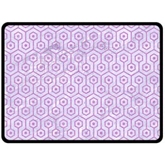 Hexagon1 White Marble & Purple Colored Pencil (r) Fleece Blanket (large)  by trendistuff