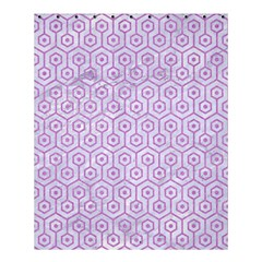 Hexagon1 White Marble & Purple Colored Pencil (r) Shower Curtain 60  X 72  (medium)  by trendistuff