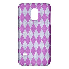 Diamond1 White Marble & Purple Colored Pencil Galaxy S5 Mini by trendistuff