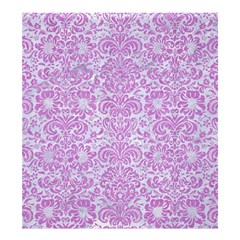 Damask2 White Marble & Purple Colored Pencil (r) Shower Curtain 66  X 72  (large)