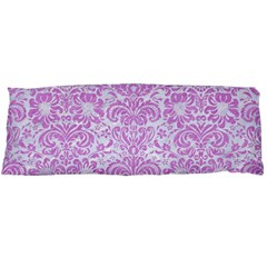 Damask2 White Marble & Purple Colored Pencil (r) Body Pillow Case Dakimakura (two Sides) by trendistuff