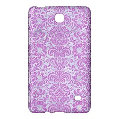 Damask2 White Marble & Purple Colored Pencil (r) Samsung Galaxy Tab 4 (7 ) Hardshell Case  by trendistuff