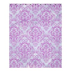 Damask1 White Marble & Purple Colored Pencil (r) Shower Curtain 60  X 72  (medium)  by trendistuff