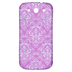 Damask1 White Marble & Purple Colored Pencil Samsung Galaxy S3 S Iii Classic Hardshell Back Case by trendistuff