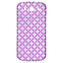 Circles3 White Marble & Purple Colored Pencil (r) Samsung Galaxy S3 S Iii Classic Hardshell Back Case by trendistuff