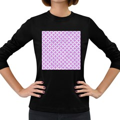 Circles3 White Marble & Purple Colored Pencil Women s Long Sleeve Dark T Shirts by trendistuff