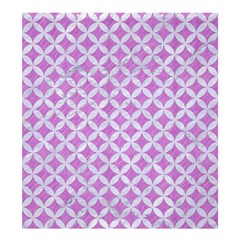 Circles3 White Marble & Purple Colored Pencil Shower Curtain 66  X 72  (large)  by trendistuff