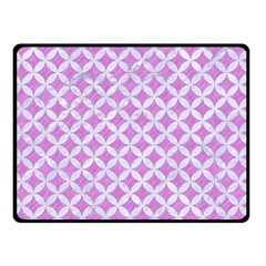 Circles3 White Marble & Purple Colored Pencil Double Sided Fleece Blanket (small)  by trendistuff