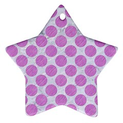 Circles2 White Marble & Purple Colored Pencil (r) Ornament (star) by trendistuff