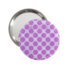 Circles2 White Marble & Purple Colored Pencil (r) 2 25  Handbag Mirrors by trendistuff