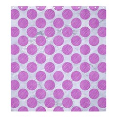 Circles2 White Marble & Purple Colored Pencil (r) Shower Curtain 66  X 72  (large)  by trendistuff
