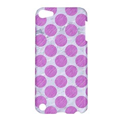 Circles2 White Marble & Purple Colored Pencil (r) Apple Ipod Touch 5 Hardshell Case by trendistuff
