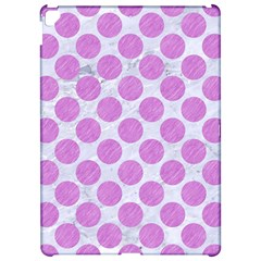 Circles2 White Marble & Purple Colored Pencil (r) Apple Ipad Pro 12 9   Hardshell Case
