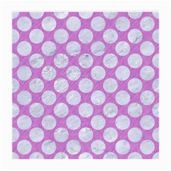 Circles2 White Marble & Purple Colored Pencil Medium Glasses Cloth by trendistuff