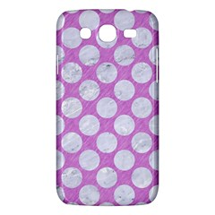 Circles2 White Marble & Purple Colored Pencil Samsung Galaxy Mega 5 8 I9152 Hardshell Case  by trendistuff