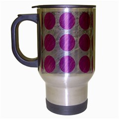 Circles1 White Marble & Purple Colored Pencil (r) Travel Mug (silver Gray) by trendistuff