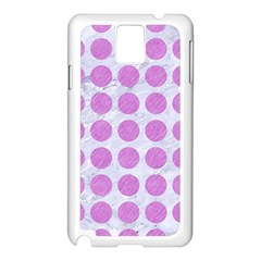 Circles1 White Marble & Purple Colored Pencil (r) Samsung Galaxy Note 3 N9005 Case (white) by trendistuff