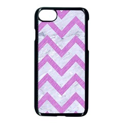 Chevron9 White Marble & Purple Colored Pencil (r) Apple Iphone 8 Seamless Case (black) by trendistuff