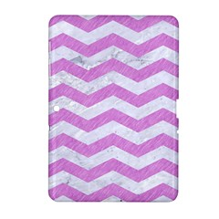 Chevron3 White Marble & Purple Colored Pencil Samsung Galaxy Tab 2 (10 1 ) P5100 Hardshell Case  by trendistuff