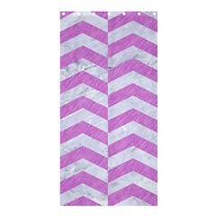 Chevron2 White Marble & Purple Colored Pencil Shower Curtain 36  X 72  (stall)  by trendistuff