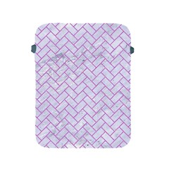Brick2 White Marble & Purple Colored Pencil (r) Apple Ipad 2/3/4 Protective Soft Cases by trendistuff